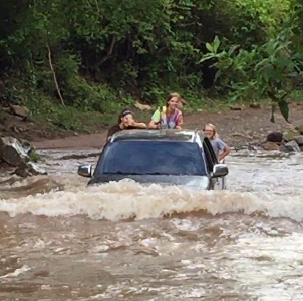 Truck driving in Honduras